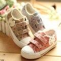 Apuramento bowknots size23 ~ 30 crianças lona shoes criança casual shoes para meninas casual shoes