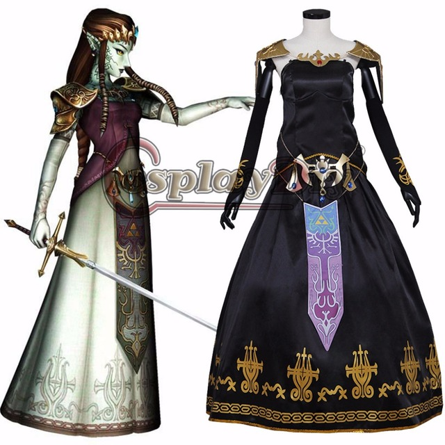 Cosplaydiy Legend of Zelda Twilight Princess Cosplay Dress Zelda Adult Women Halloween Carnival Cosplay Costume Custom Made