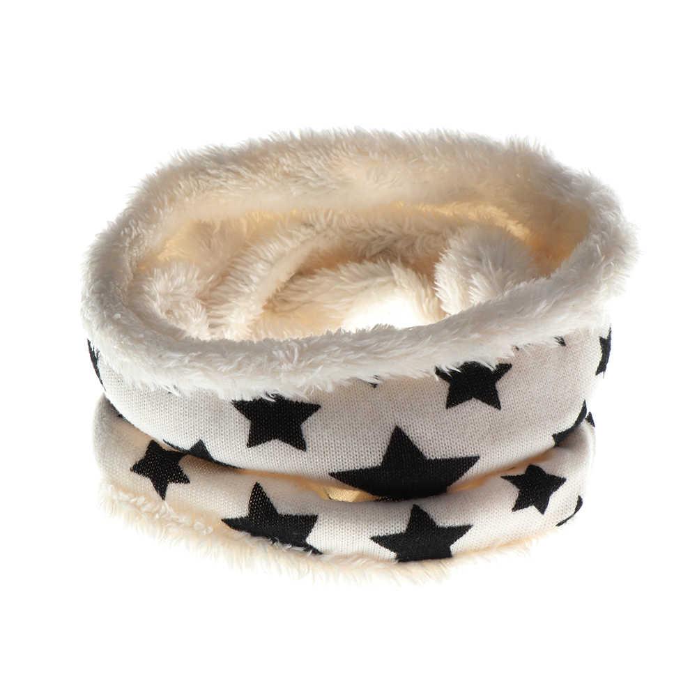 2019nova outono inverno crianças cachecol cinco estrelas impressão cachecol do bebê meninos e meninas algodão crianças dot print anel crianças laço cachecóis