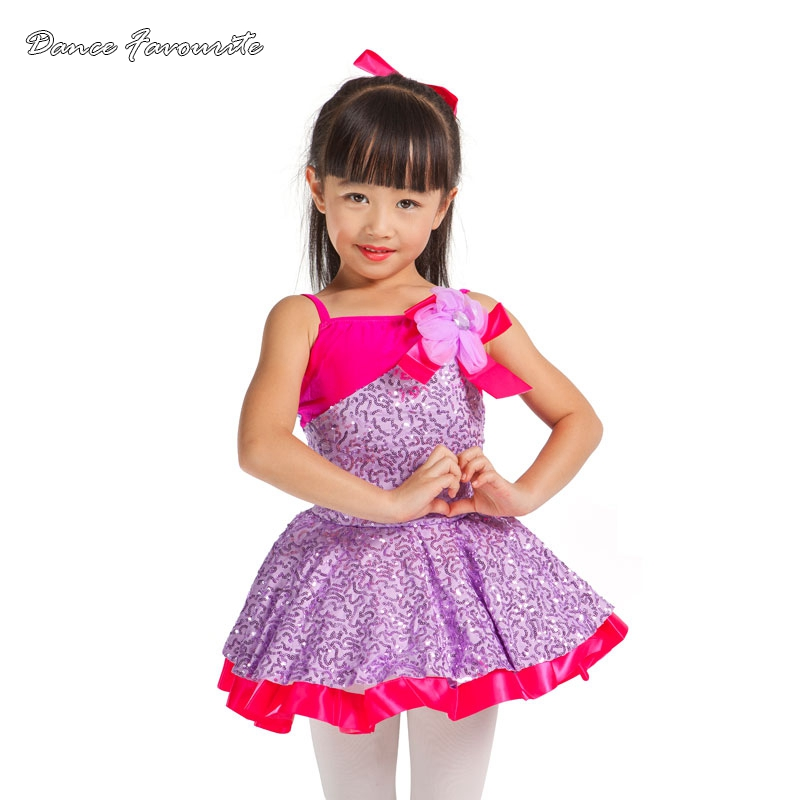 Dance Favourite 2 in 1 child girl dance costumes tutu dress, child performance stage ballet tutu, high quality ballet tutu