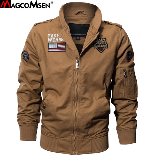 Aliexpress.com : Buy MAGCOMSEN Autumn Jackets Men Military Pilot ...
