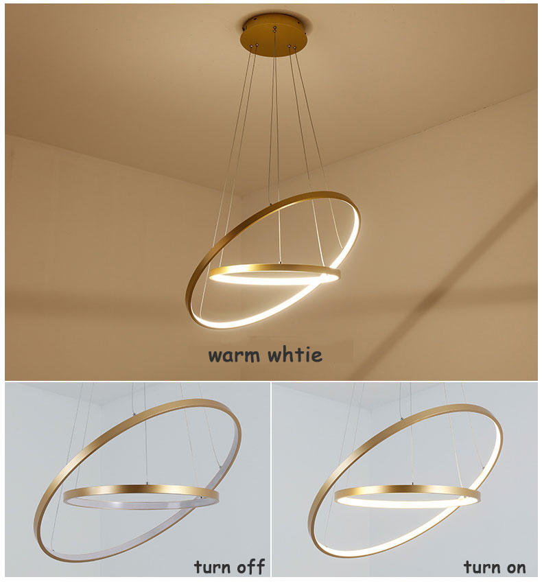 HTB1X.a6iFmWBuNjSspdq6zugXXaR Modern Home LED Ceiling Light For Living room Dining room Kitchen Lustre 6Ring 5Rings Hanging Lamp Ceiling Lamp Lighting Fixture