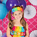 Retail Baby Rainbow Flower Headband infant six Chiffon Flower hairbands kids girls hair accessories photo props
