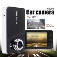 K6000 HD Car DVR Driving Data Recorder Camcorder Vehicle Camera With 90 Degree Angle View Black