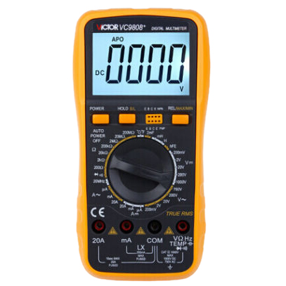 VICTOR VC9808+ Temperature Measurement Inductance Frequency Digital Multimeter professional victor vc890c digital multimeter true rms multimeter 2000uf capacitor temperature measurement