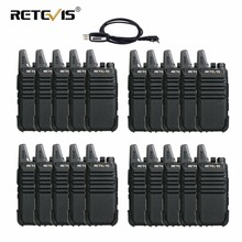 цена на 20pcs Retevis RT22 Mini Walkie Talkie 2W UHF VOX Scan CTCSS/DCS Monitor TOT Frequency Portable Radio Set Handy Walkie-Talkie RU
