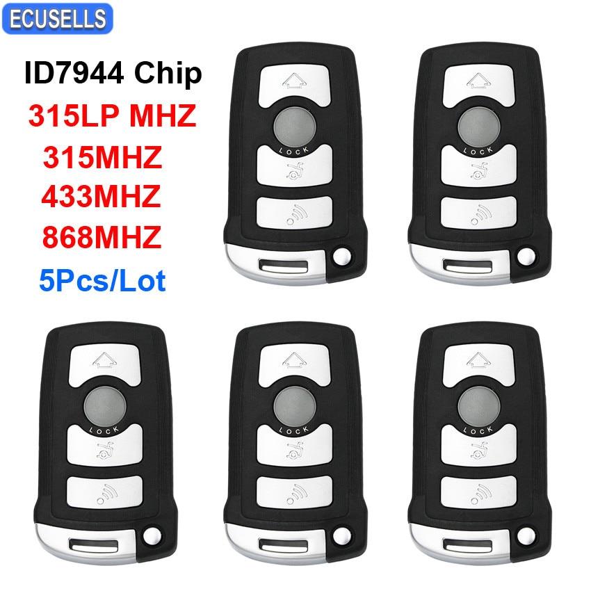 5 Pcs Lot 4 Button Remote Smart Car Key 315LP MHZ 315MHZ 433MHZ 868MHZ ID46 ID7944