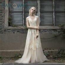 Vintage Lace Boho Wedding Dress jubah de mariage Cap Sleeves Lace Wedding Dresses 2017 Plus Ukuran vestido de noiva de renda