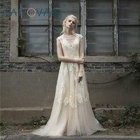 2018 Vintage Lace Wedding Dress Plus Size Short sleeves Long Wedding Gowns Robe de maree boho dress vestido de noiva de renda
