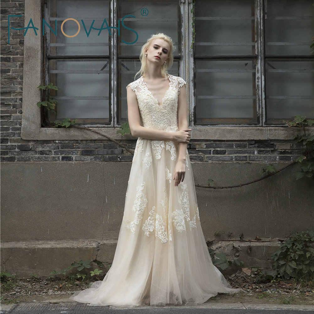 caa2ed2861ace Vintage Lace Wedding Dress Boho - raveitsafe