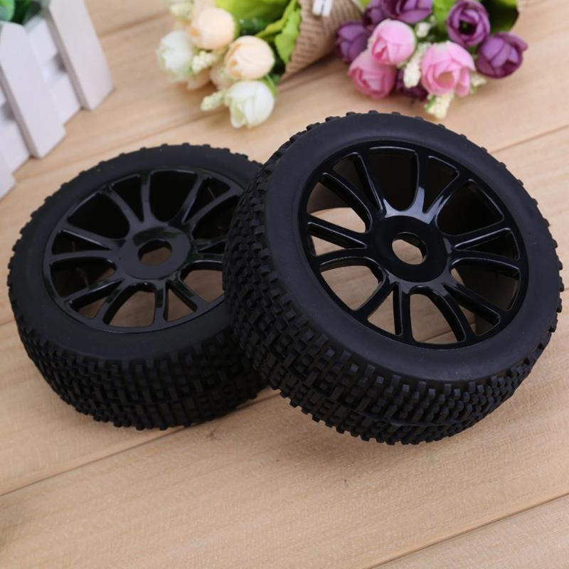 4pcs 17mm Hub Wheel Rim Tires Tyre for 1/8 Off-Road RC Car Buggy RC On-Road Car Parts Accessories hsp 1 10 off road buggy body 2pcs 31 17 6cm 10706 10707 106ma2 rc car electric rc car bodyshell for 94107 94107pro