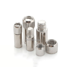 100PCS/LOT Nickel Shelf Supports 6*19mm/8*21mm/9*21mm Adustable Cabinet Cupboard Support Furniture Hardware