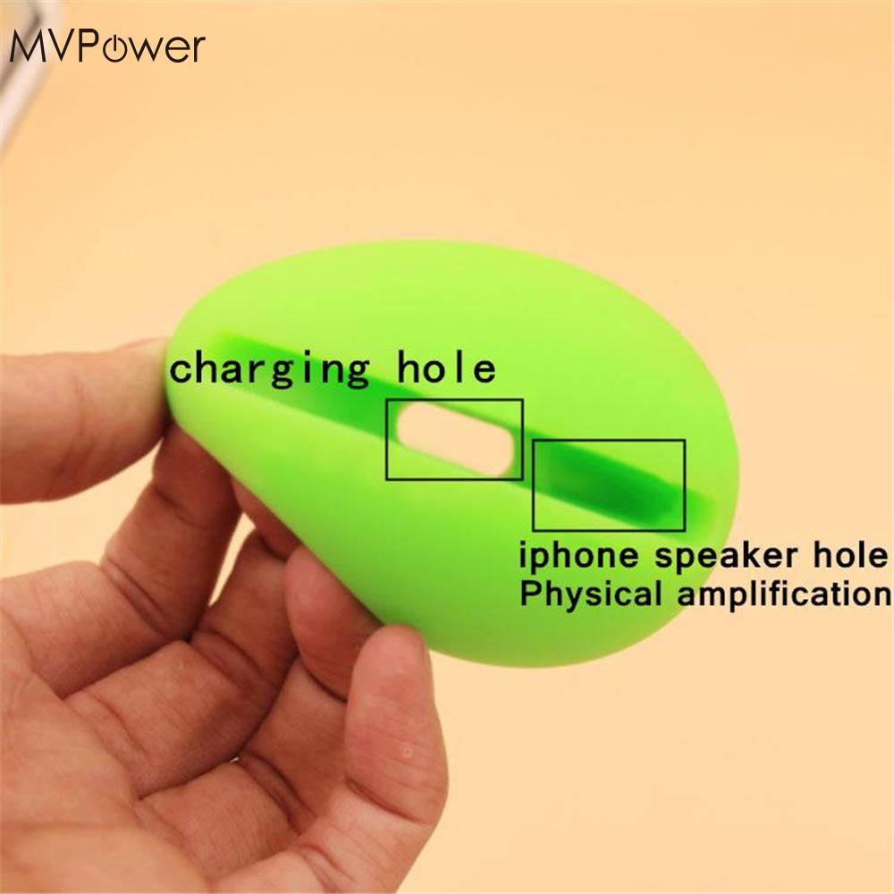 MVpower Egg Silicone Horn Audio Amplifier Music Speaker Desk Holder Mount Stand for iPhone 6/6 Plus Accessories Random Color