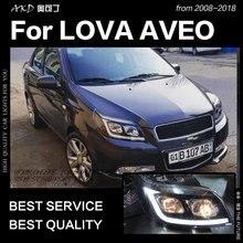 AKD автомобильный Стайлинг для Chevrolet Aveo фары 2008-2012 Lova светодиодный фары Nexia DRL HID фара биксеноновые фары аксессуары