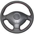 Black Artificial Leather Car Steering Wheel Cover for Suzuki Jimny