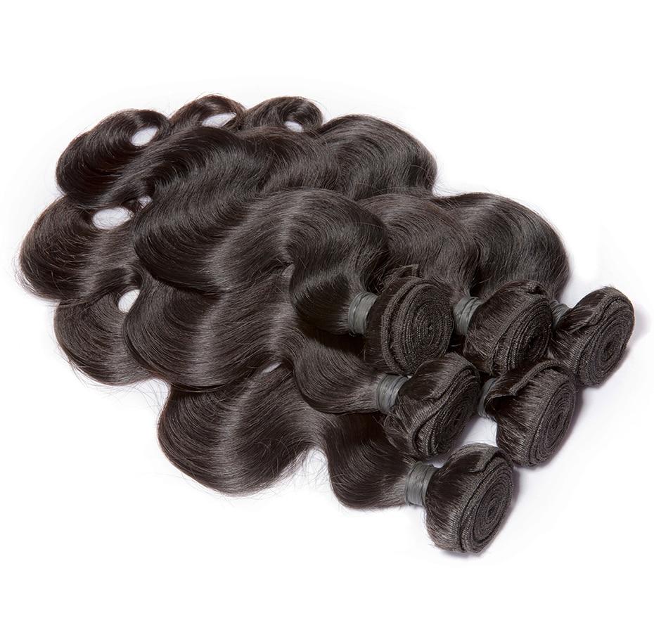 HTB1X.besi0TMKJjSZFNq6y 1FXa2 HJ Weave Beauty Body Wave Human Hair Bundles With Closure 8-30 32 34 38inch 7A Virgin Hair Brazilian Hair Weave Bundles