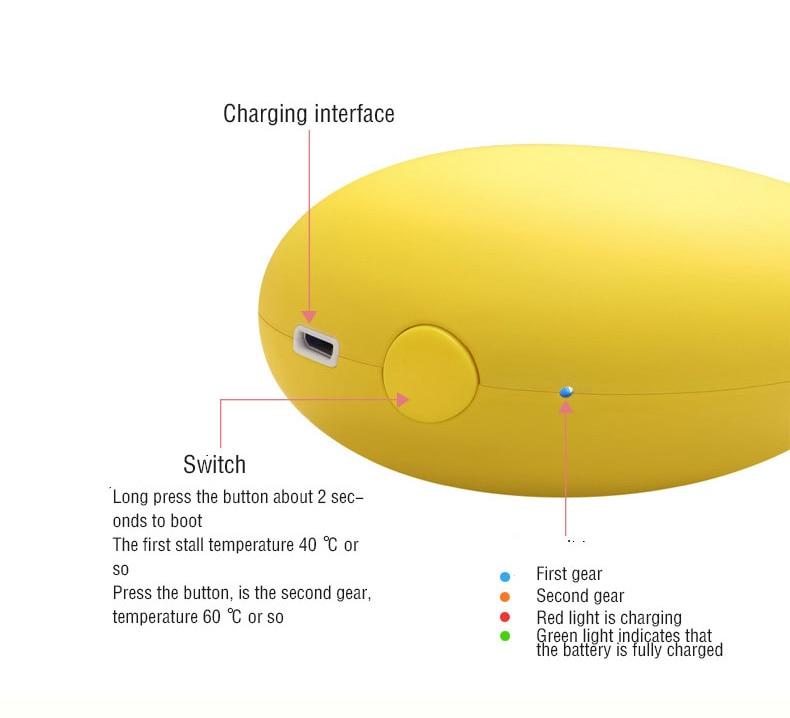 Small Mango Heater Aluminum heat sink Charging Mobile Power Warm Hand Treasure Handwarmer Usb Electric Baby Creative Gifts