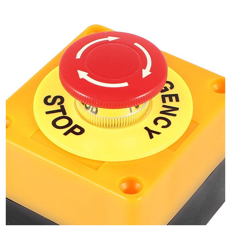 Push button AC 660V 10A Emergency stop plastic case Hard red switch ac 660v 10a plastic shell red sign emergency stop mushroom push button switch
