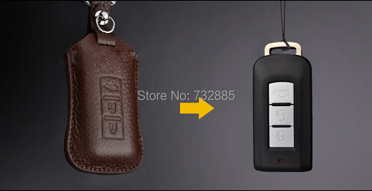 Mitsubishi Exceed OutlanderASX Pajero Leather key case(2).jpg