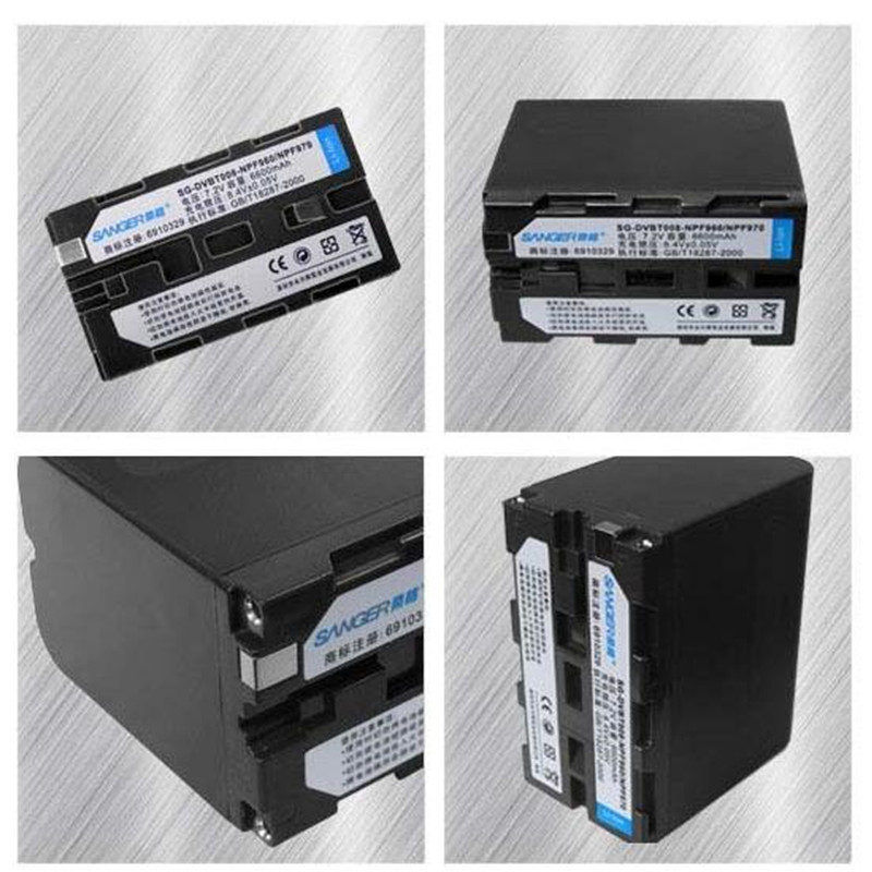 NP-F970 NP-F960 lithium batteries F960 Digital camera battery For Sony DCR-VX2100 HDR-AX2000 FX1 FX7 FX1000 FOR LED Flash light durapro 4pcs np f970 np f960 npf960 npf970 battery lcd fast dual charger for sony hvr hd1000 v1j ccd trv26e dcr tr8000 plm a55