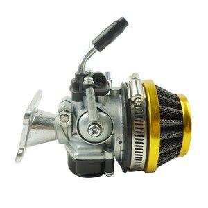 Image 5 - Lochoshi corrida carburador conjunto do filtro de ar tubo de admissão para 49cc 50cc 60cc 66cc 80cc 2 tempos mini bolso bicicleta atv