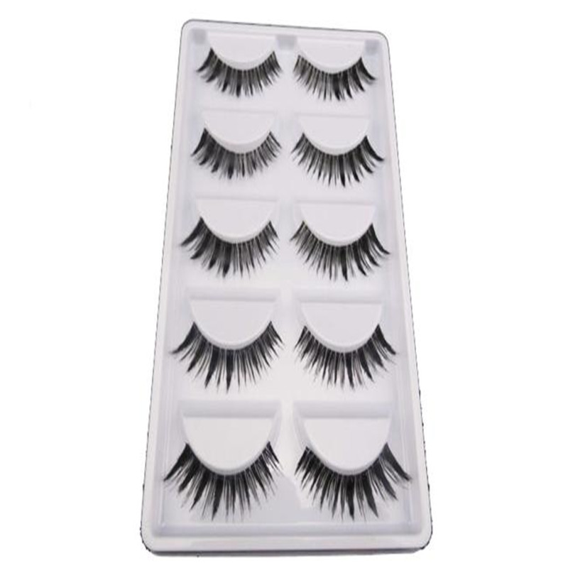 5pair Full Strip Lashes false Eyelashes Handmade Natural Long false eyelashes natural Eyelashes Extension Tools 5430A