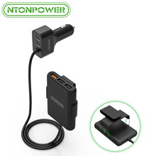 NTONPOWER 5 портов USB QC 3,0 Автомобильное зарядное устройство с 1,8 м удлинитель с Съемный зажим для мобильного телефона планшет gps автомобиль-зарядное устройство