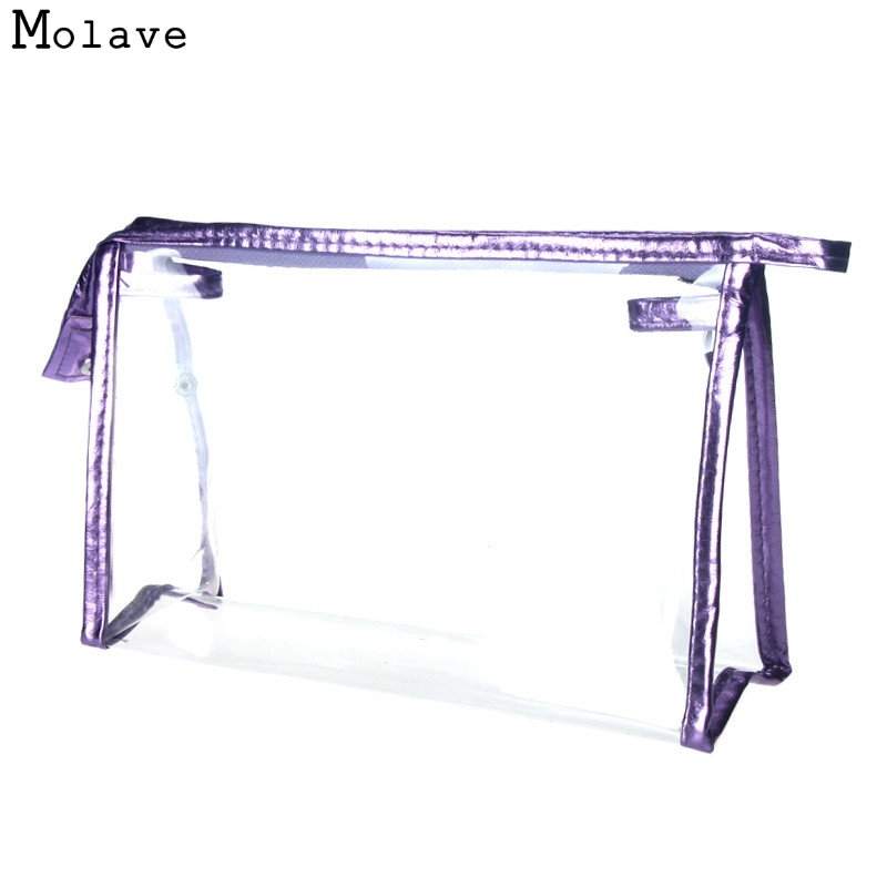 Naivety New Fashion Women Clear Waterproof Makeup Storage Pounch Lady Transparent Cosmetic Bag 11S60921 Drop Shipping