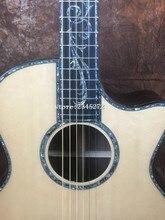 Сделанная вручную гитара SP14ce акустической гитары + эбони 41 «инкрустация золотые тюнеры PS14ce Гитары, Бесплатная доставка