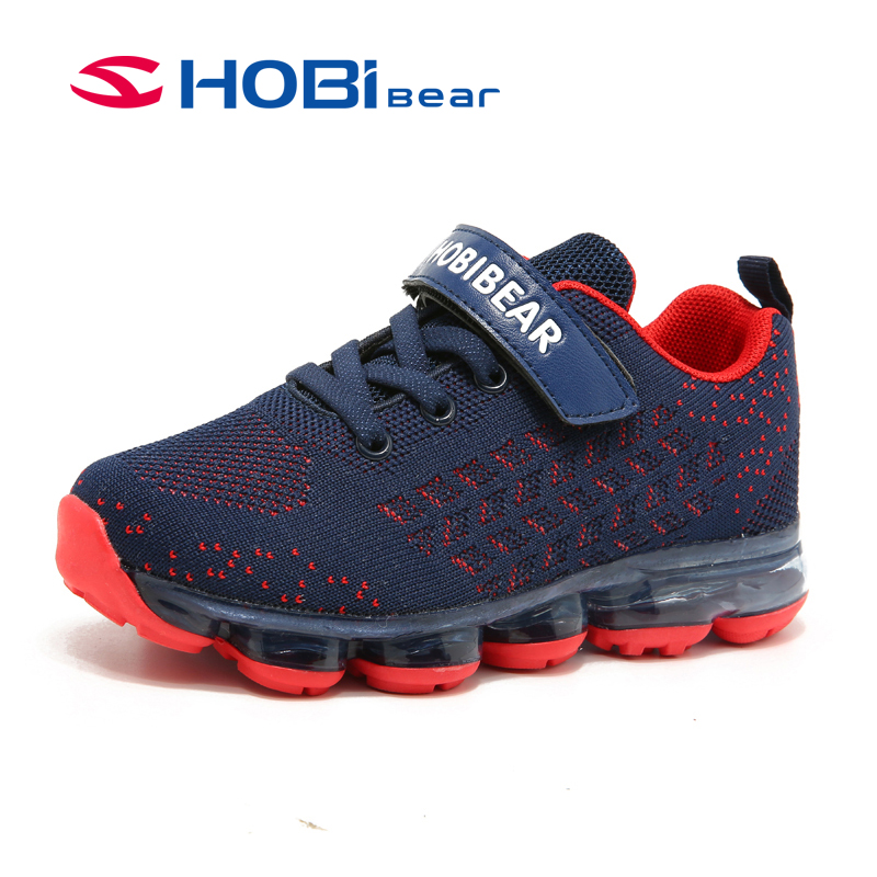 HOBIBEAR Spring Autumn Kids Shoes Big Boys Girls Shoes Fashion Sport Running Shoes For Boys Child Causal Shoes EUR Size 31-37 2016 spring child sport shoes leather boys shoes girls wear resistant casual shoes