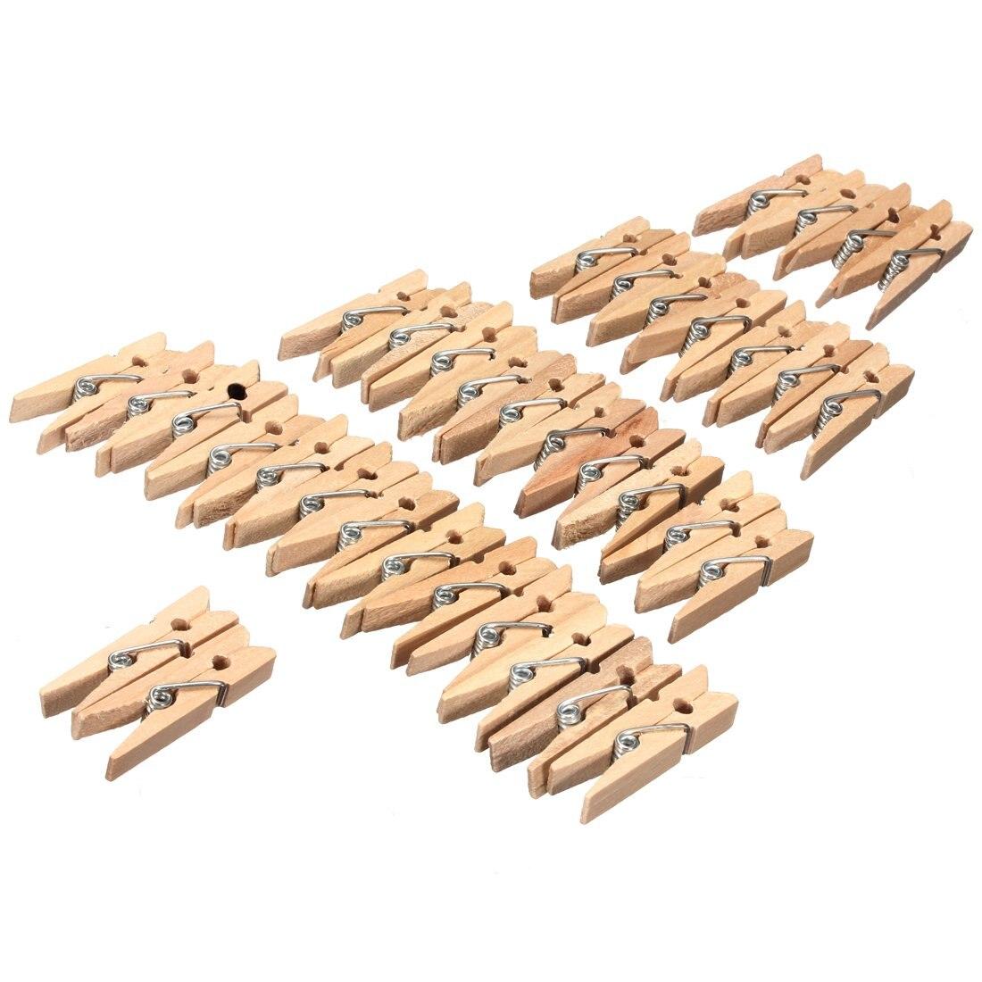 hot 100 pcs mini pince a linge en bois pour naturel papier photo craft clips maison