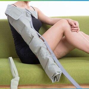 Image 5 - 6 cavidade elétrica compressão de ar perna pé massageador vibração infravermelho terapia braço cintura pneumática envoltórios de ar relaxar alívio da dor