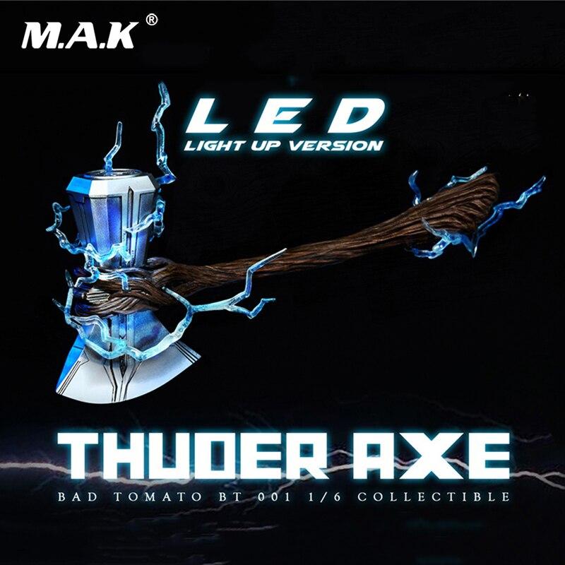 Figurine d'action à l'échelle 1/6 acc Avengers: Infinity War BT001 Axe de tonnerre avec lumière LED vers le haut Ver. 21 cm Stormbreaker