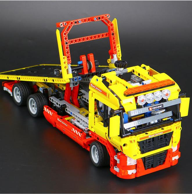 NEW LEPIN 20021 technic series 1143pcs Flatbed trailer Model Building blocks Bricks Compatible Toy Gift Educational Car 8109