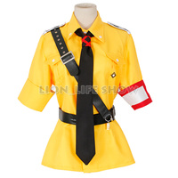 Custom Size Yellow Hellsing Seras Victoria Cosplay Costume Dress With Tie