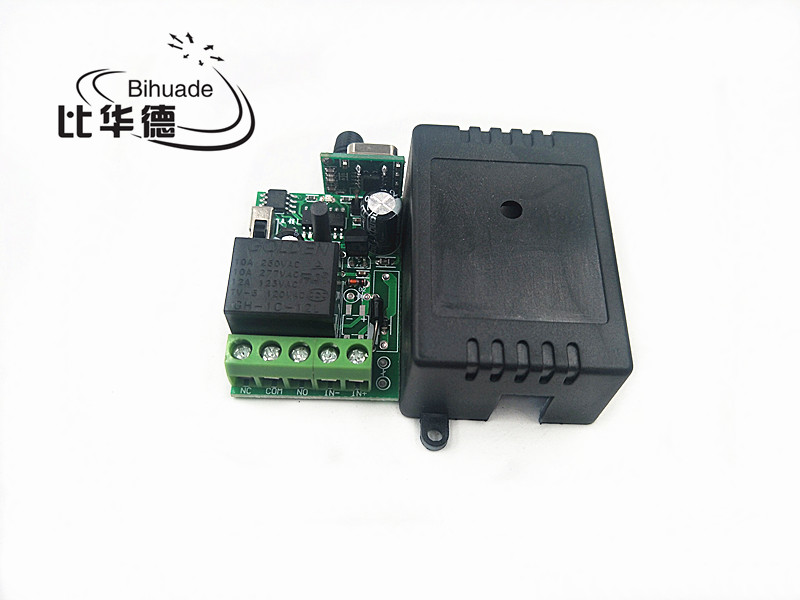 433Mhz Wireless Remote Control Switch DC 12V 220V 10A 1CH relay 433Mhz Receiver Module For 1527 learning code Transmitter Remote image