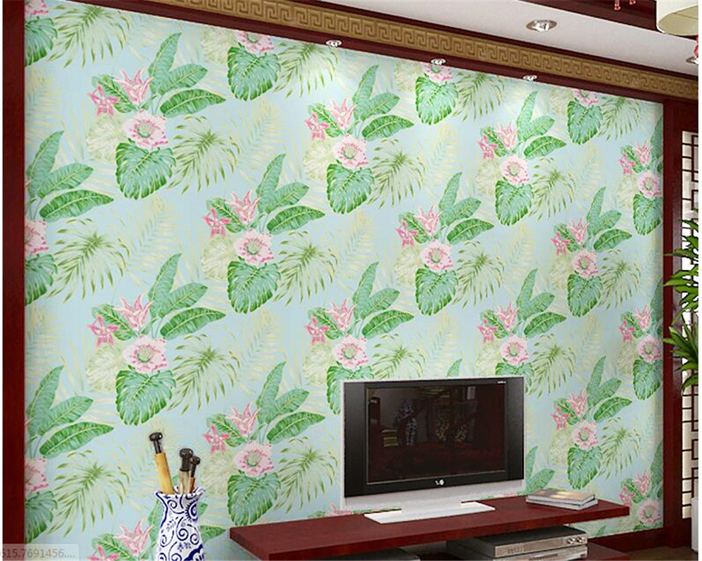 beibehang Simple Wall paper Nonwoven large leaf flower wallpaper 3D relief TV background sofa full of papel de parede wallpaper modern simple wallpaper fashion grain pattern nonwoven nonwoven 3d mural wallpaper tv sofa bedroom background wallpaper