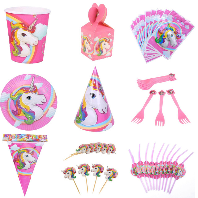 Unicorn Theme Party Supplies BalloonWrapper topperLoot bagBanner/Flag  sc 1 st  AliExpress.com & Unicorn Theme Party Supplies BalloonWrapper topperLoot bagBanner ...