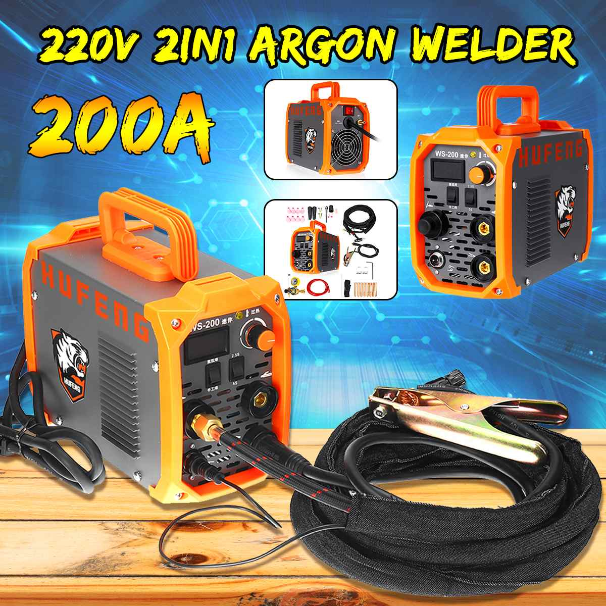 220V 200A Mini Arc Welder IGBT Inverter MMA Welding Machine Agron Welder Ground Clip TIG Torch Welding Tools New Arrival 2019