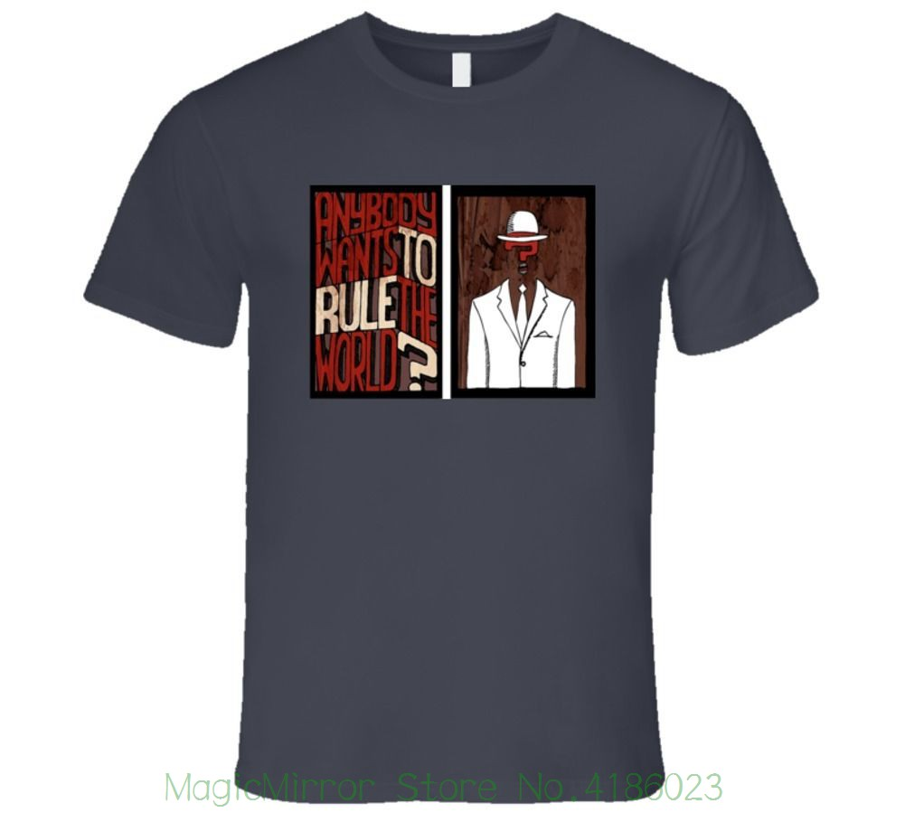 Anybody Wants To Rule The World Corporations , Question Mark T Shirt Summer Short Sleeves Cotton T-shirt Fashion