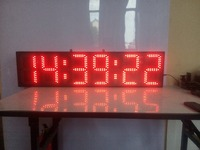 8inch red hours,minutes and seconds LED clock (HST6-8R)