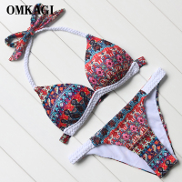 OMKAGI Newest Bikini Set Swimsuit Swimwear Women S Swimming Bathing Suit Beachwear Sexy Push Up Bikinis
