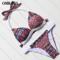 OMKAGI Newest Bikini Set Swimsuit Swimwear Women S Swimming Bathing Suit Beachwear Sexy Push Up Bikinis