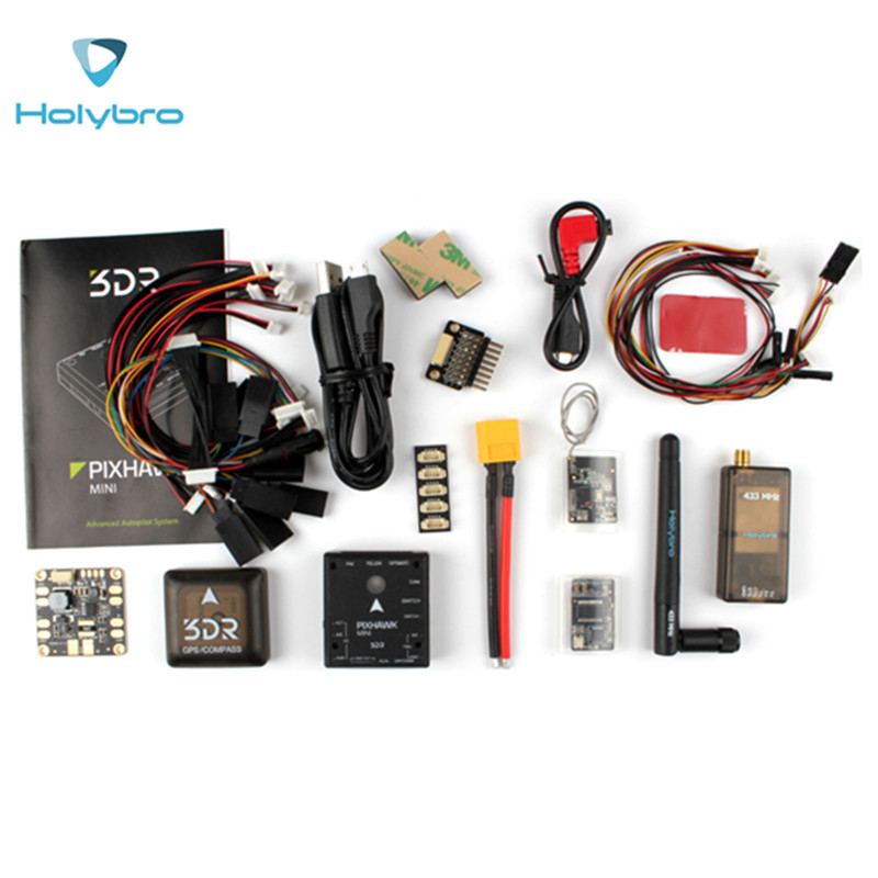 HolyBro 3DR Pixhawk Mini Flight Controller & M8N GPS & OSD-Telemetry Module & PDB Board for RC Drone Models  Spare Parts f18471 m8n gps compass module for naza m v2 lite flight controller board