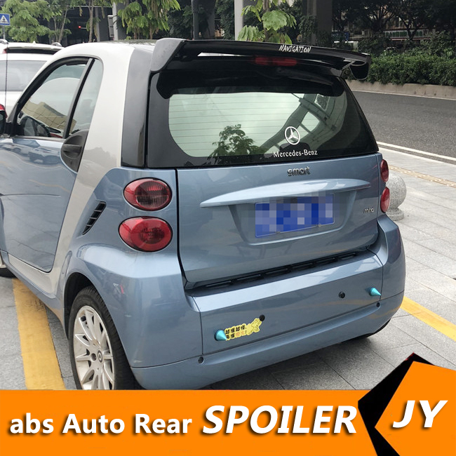 For Smart fortwo Spoiler 2008-2019 Smart fortwo  spoiler High Quality ABS Material Car Rear Wing Primer Color Rear Spoiler