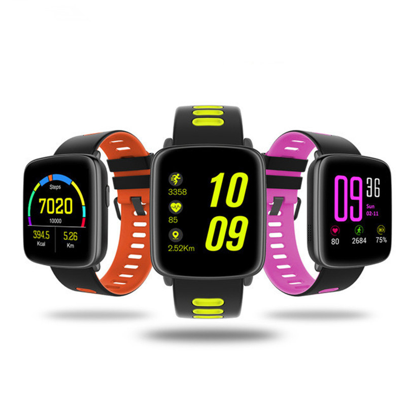 Sport Watch GV68 Bluetooth 4.0 Sport Smart Watch MTK2502 with Colorful Heart Rate Monitor Smart Clock Pedometer Smartwatch Band smart watch women bluetooth sport waterproof round smart band watch pedometer heart rate monitor