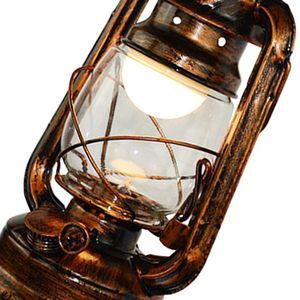 Image 2 - בציר LED קיר מנורת נפט רטרו קיר אור פנס אסם אירופאי כפרי עתיק סגנון WF4458037