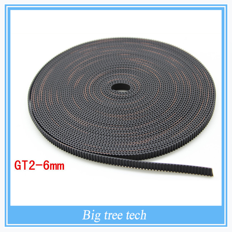Hot sale 2meter GT2-6mm open timing belt width 6mm GT2 belt For 3D Printer parts