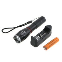 Zoomable Led Flashlight 4000 Lumens CREE XML T6 Torch Hidden COB Design Flashlight Tail Super Magnet Design With 18650 Battery