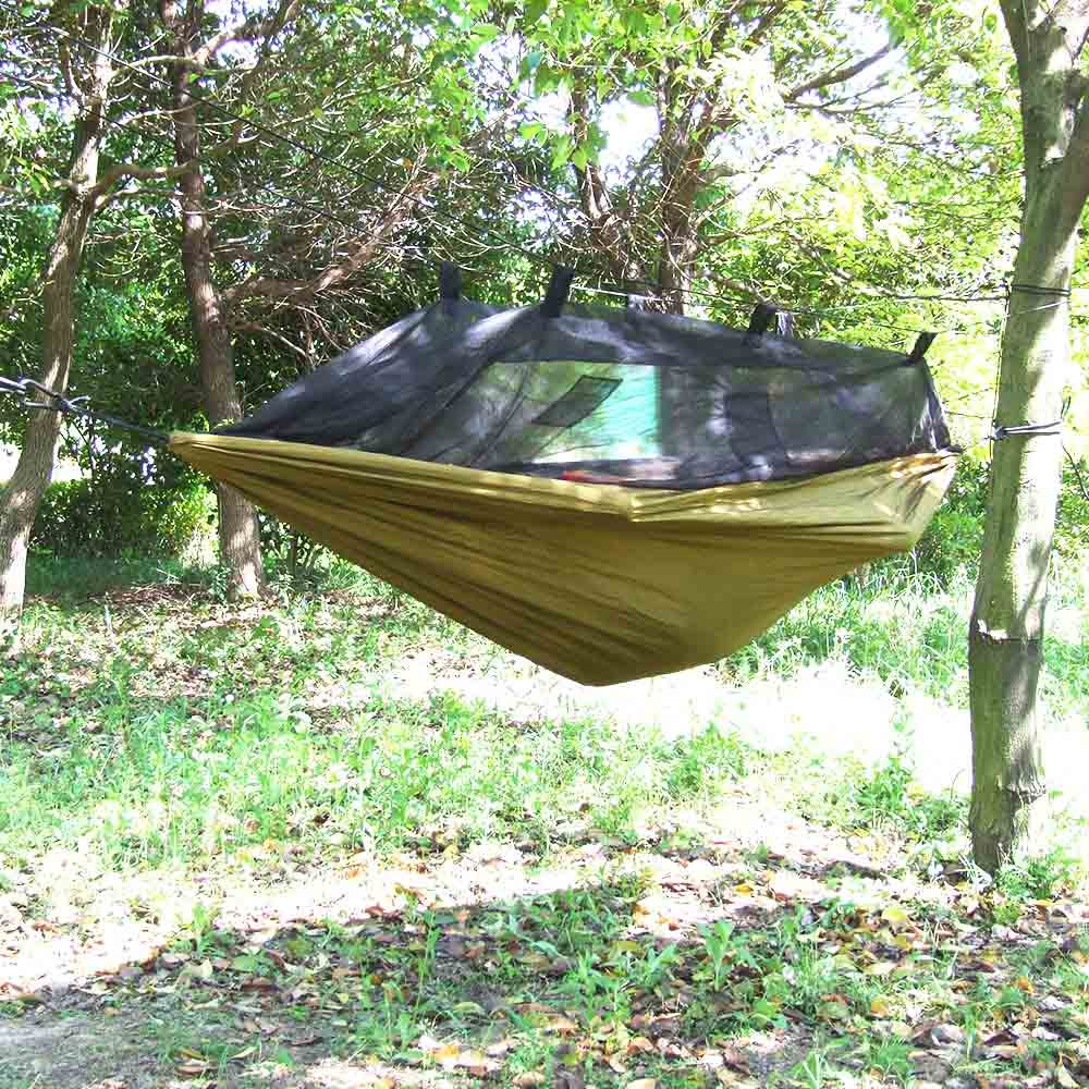 Hamac Mosquito Net Camping Hammock Strong Nylon Lightweight Outdoor Camping Traveling Hammock Hiking Sleeping Bed Hamak